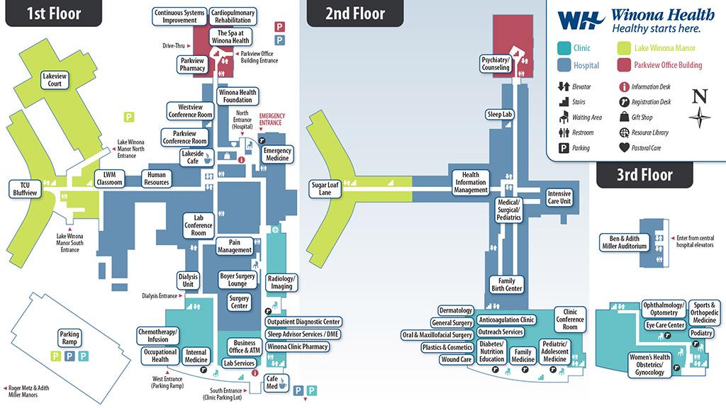Winona Health Campus Map – Wenonah Creates, LLC