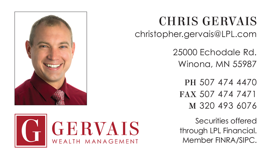 Gervais Wealth Management Business Card Front